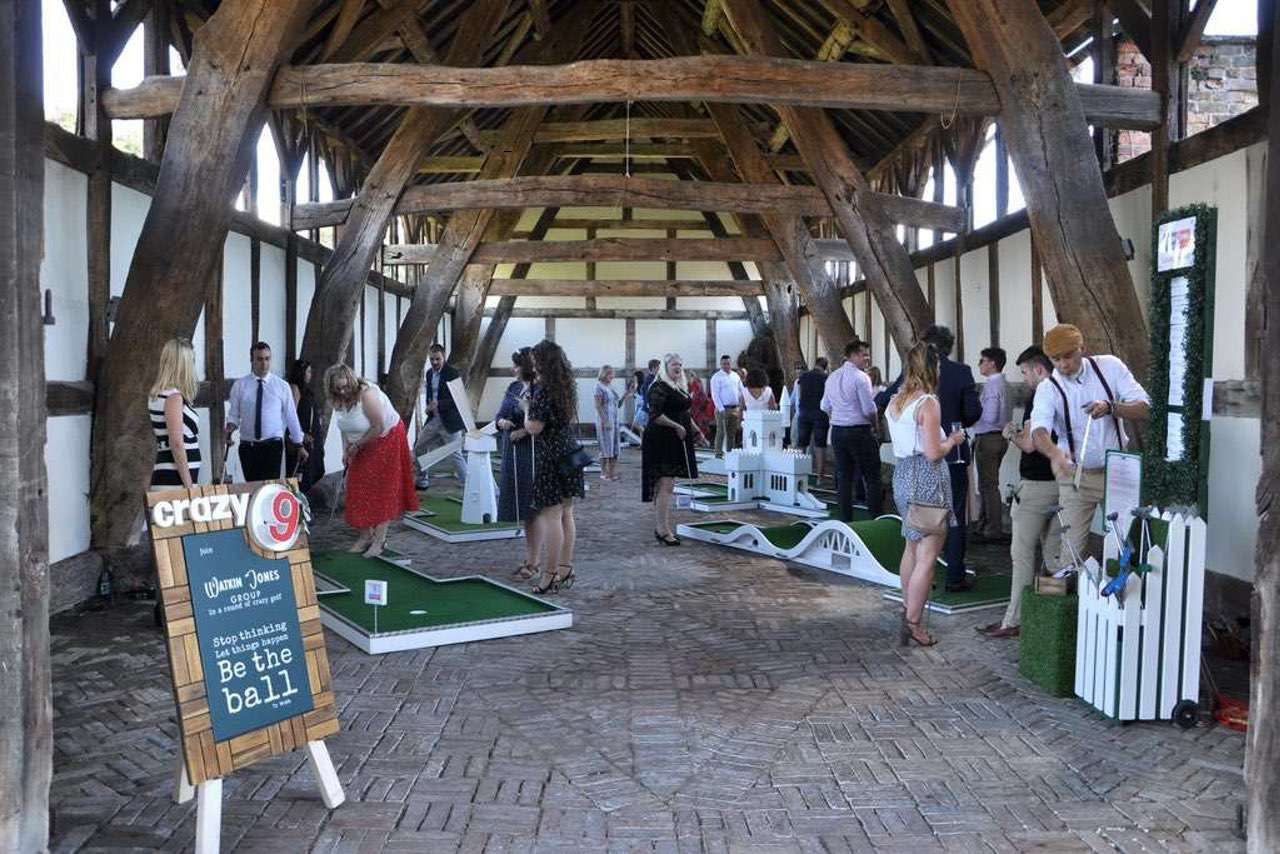 Arley Hall Cruck Barn Wedding Mobile Crazy Golf
