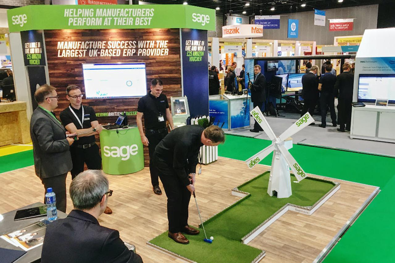 Exhibition Stand Gamification by Parker Design Consultants and Crazy9 mobile crazy golf