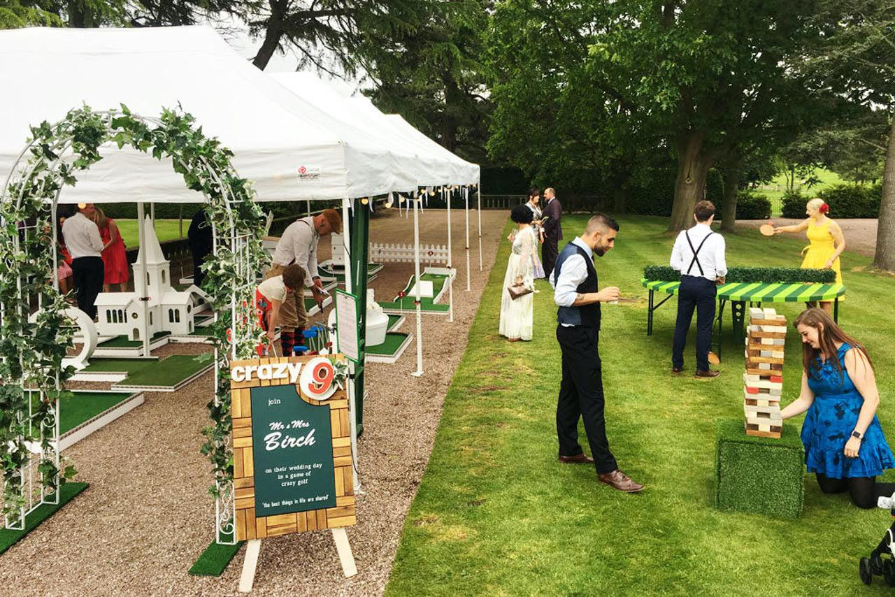 Capesthorne Hall Cheshire Wedding Garden Games