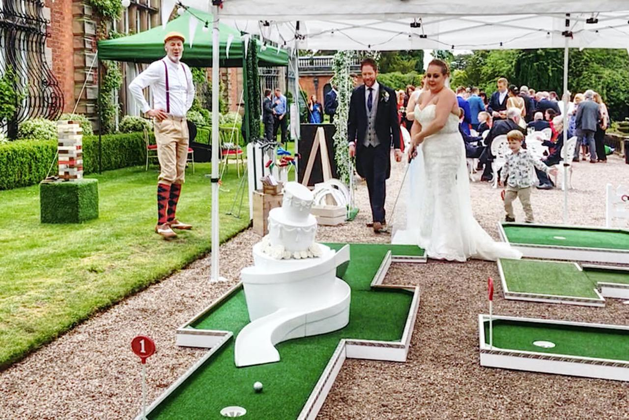 Capesthorne Hall Wedding Mobile Crazy Golf