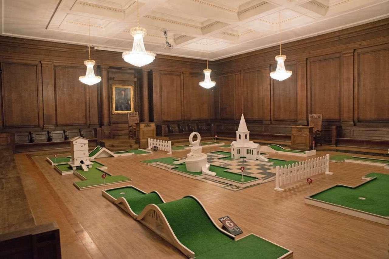 Indoor Mobile Crazy Golf - Manchester Hall Wedding