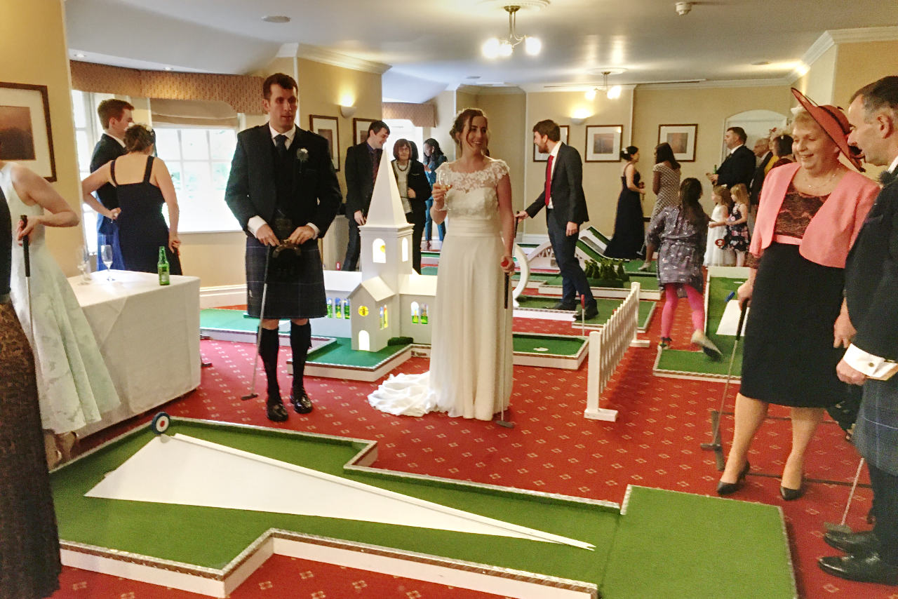 Indoor Mobile Crazy Golf - Mere Court Hotel Wedding