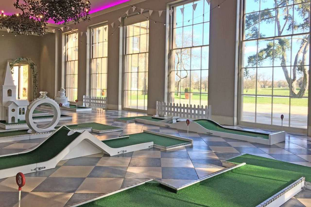 Indoor Mobile Crazy Golf - Sibton Hall Wedding