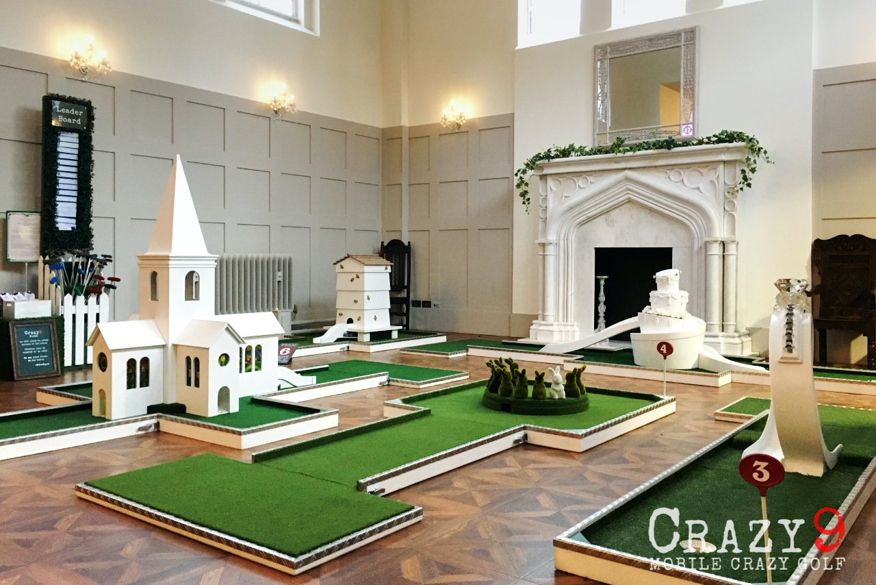 Indoor Mobile Crazy Golf - Thicket Priory Wedding