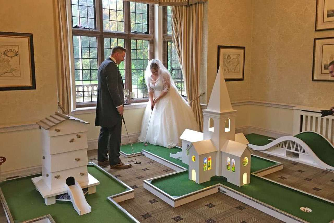 Indoor Pop-Up Crazy Golf - Inglewood Manor Wedding