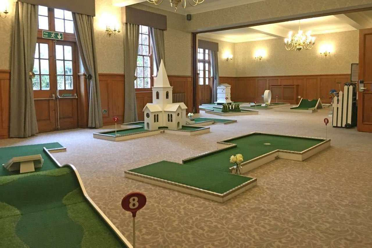 Indoor Portable Golf Course - Nunsmere Hall Wedding