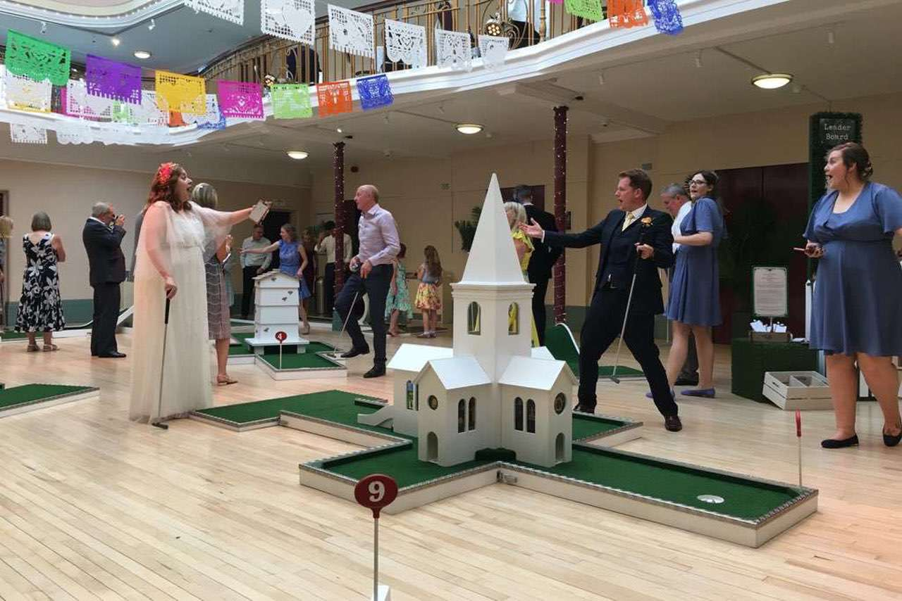 Indoor Portable Mini Golf Hire - Kings Hall Winter Gardens - Ilkley