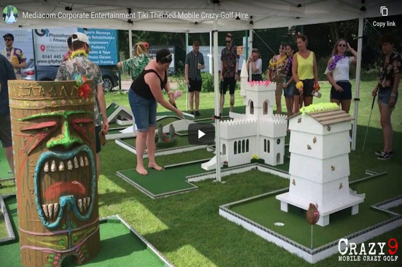 Interactive Entertainment For Corporate Events Mobile Crazy Golf