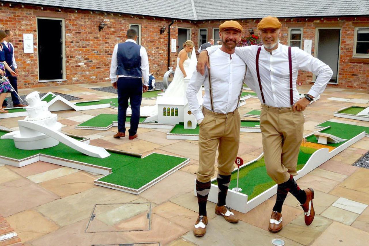 Messrs Garrett and Butler aka crazy9 mobile crazy golf
