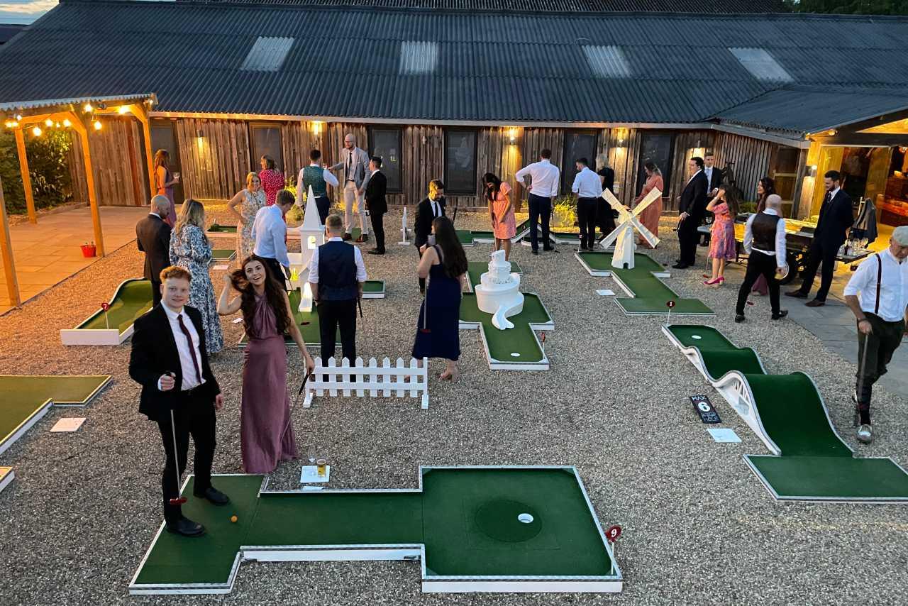 Owen House Wedding Barn - Cheshire wedding venue Mobile Crazy Golf