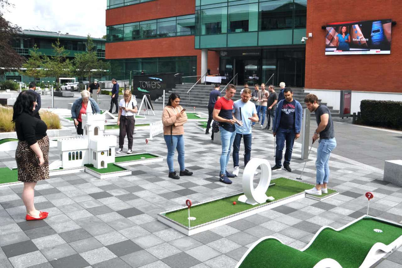Post Lockdown Corporate Party Event Ideas - mobile crazy golf
