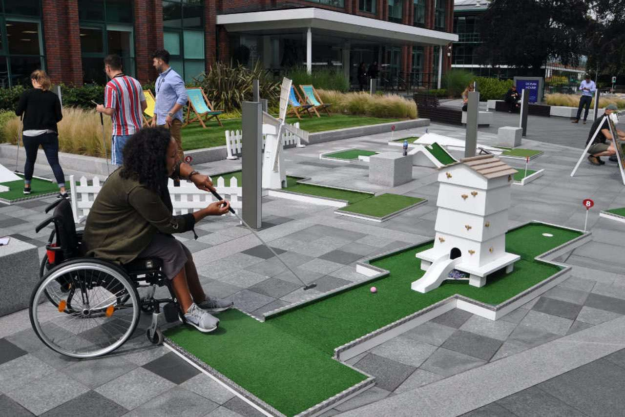 Post Lockdown Corporate Team Building Ideas - mobile crazy golf