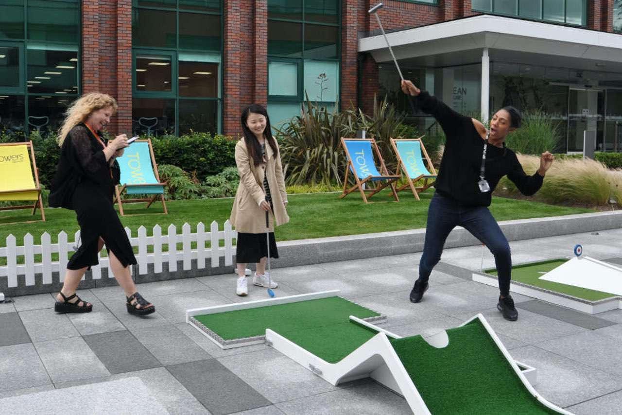 Post Lockdown Corporate team building - mobile crazy golf