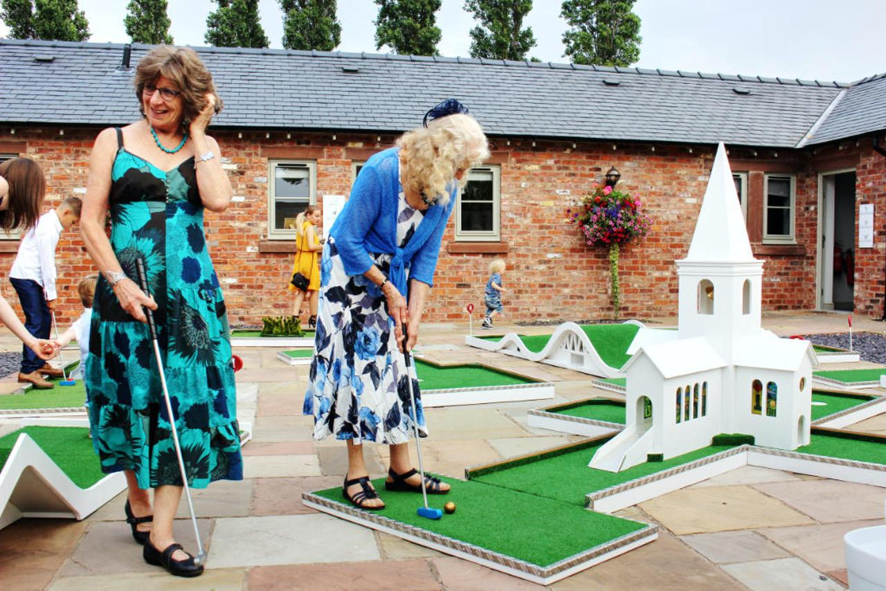 The Cock O-Barton Wedding Venue Cheshire Mobile Crazy Golf