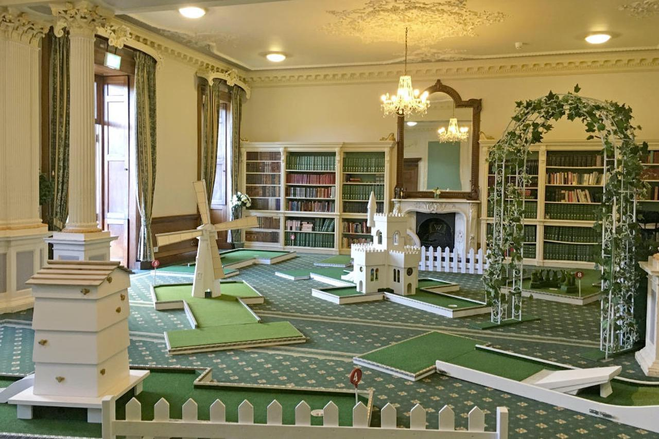 Wortley Hall Wedding Indoor Mobile Crazy Golf