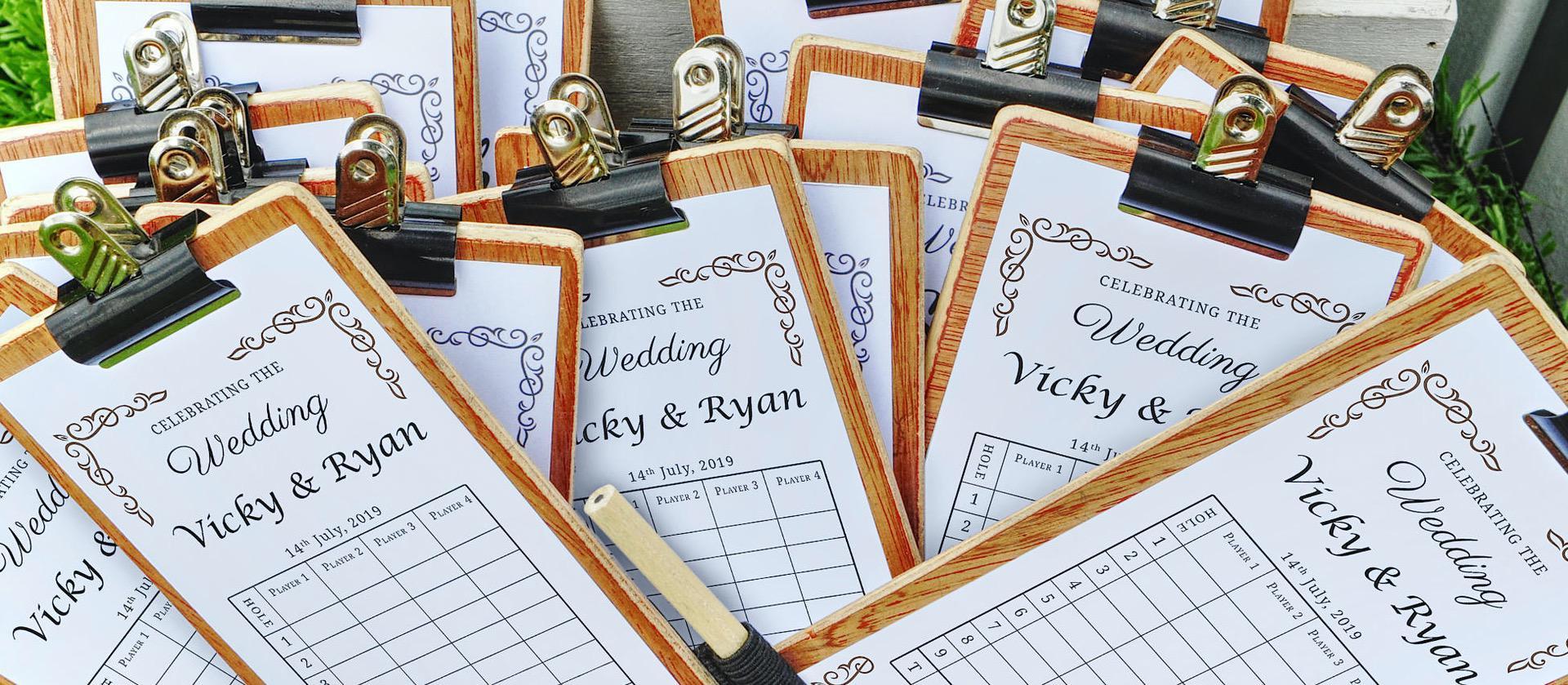 wedding mobile crazy golf a la golf carte menu