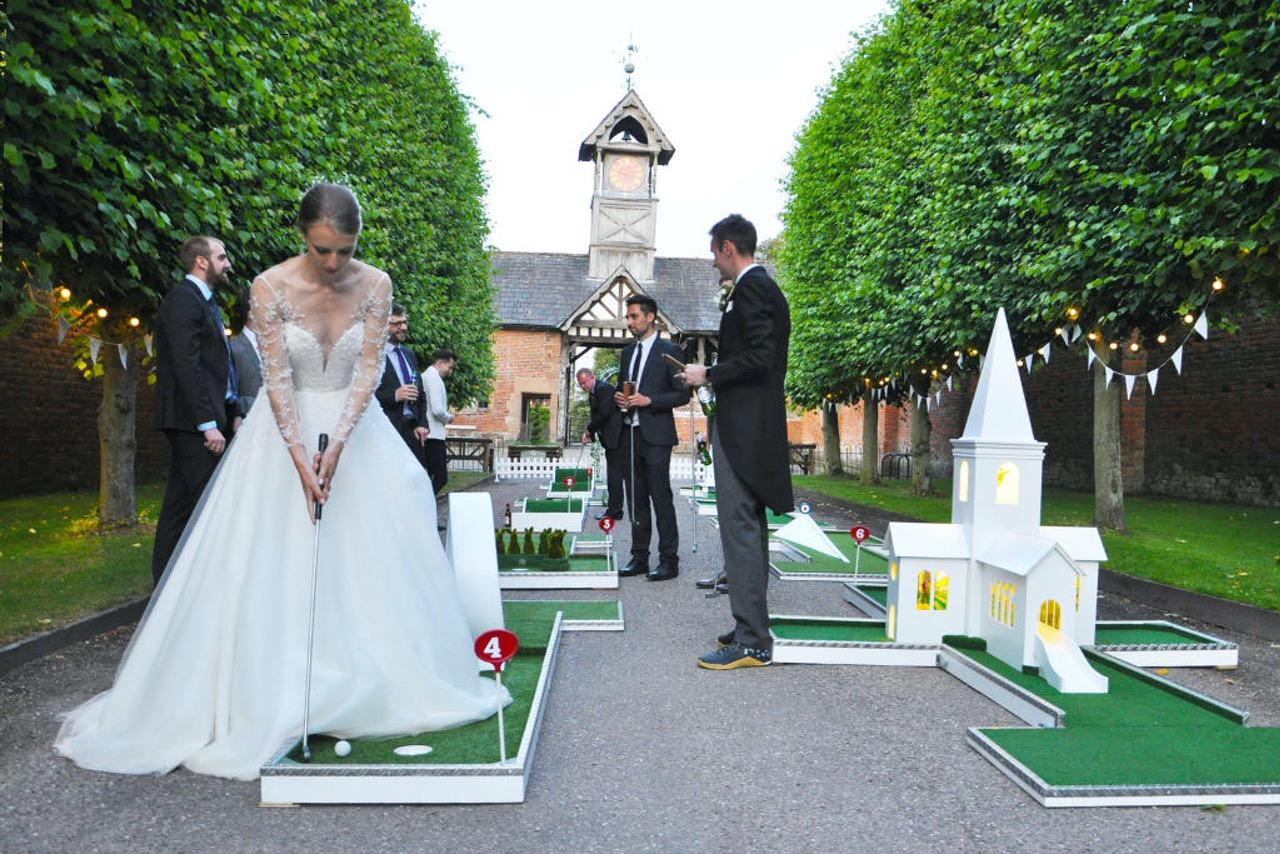 arley hall wedding entertainment portable mini golf
