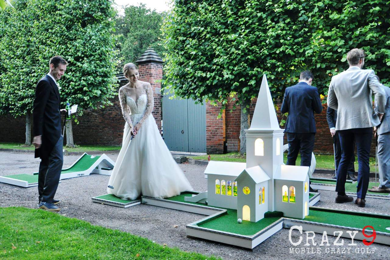 arley hall wedding mobile crazy golf charlotte church