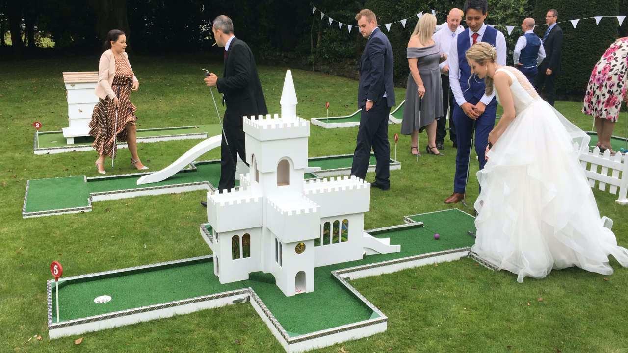 wedding entertainment mobile crazy golf castle or church