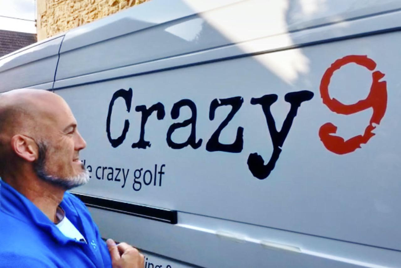 Crazy9 mobile crazy golf van livery
