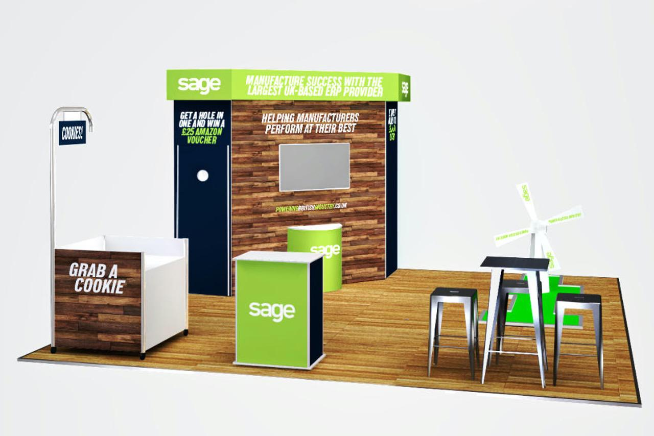 gamified exhibition stand using crazy golf by Parker Design Consultants