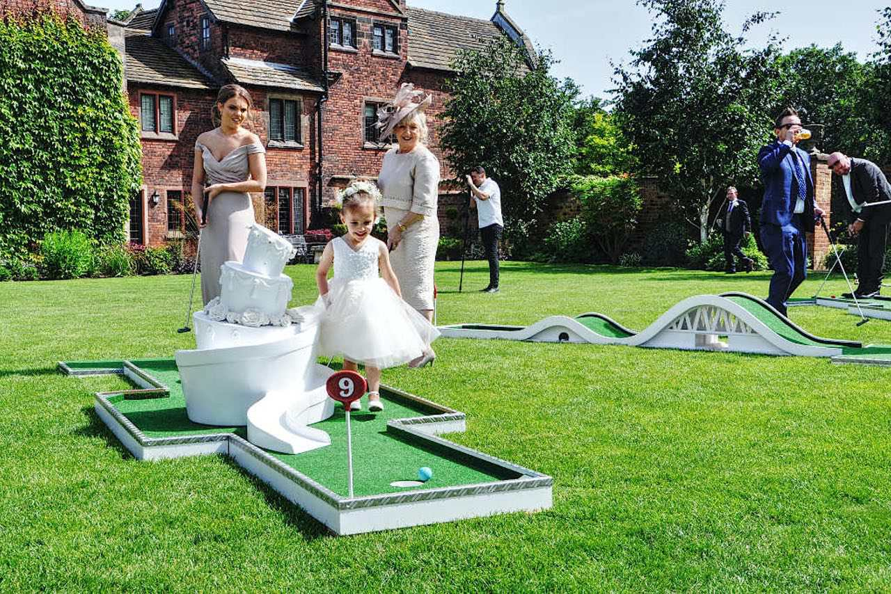 Colshaw Hall Wedding Venue in Cheshire Mobile Crazy Golf Entertainment