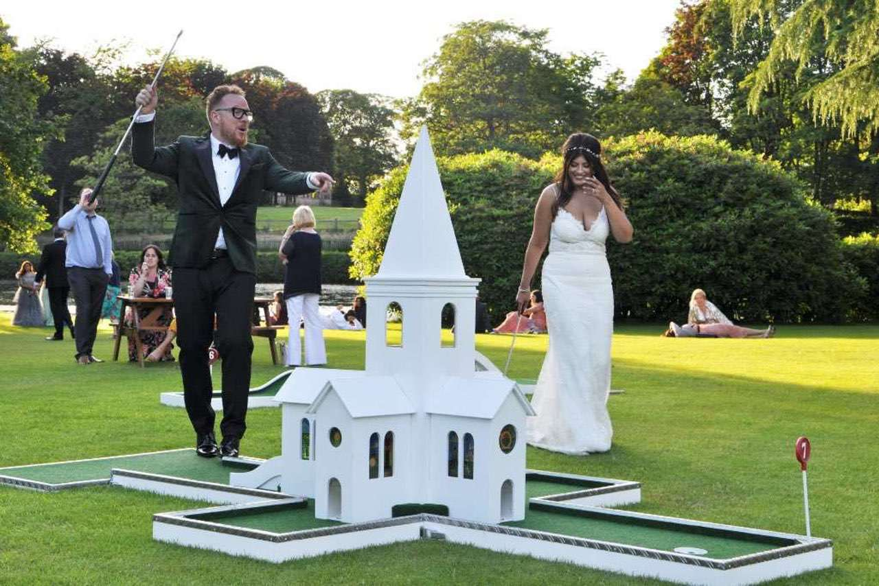 gawsworth hall wedding mobile crazy golf charlotte church