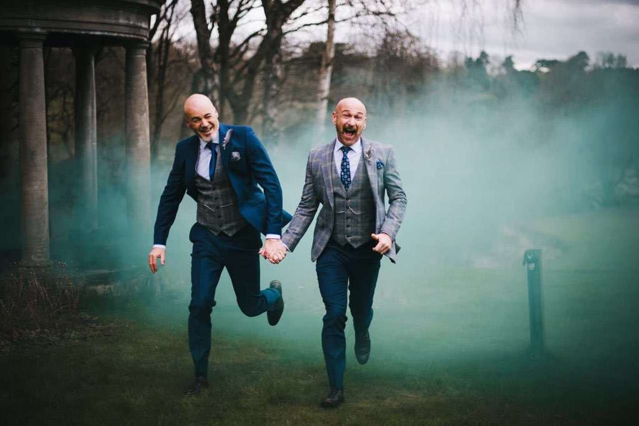 same-sex wedding ideas - gay guys getting married photography by gareth roy