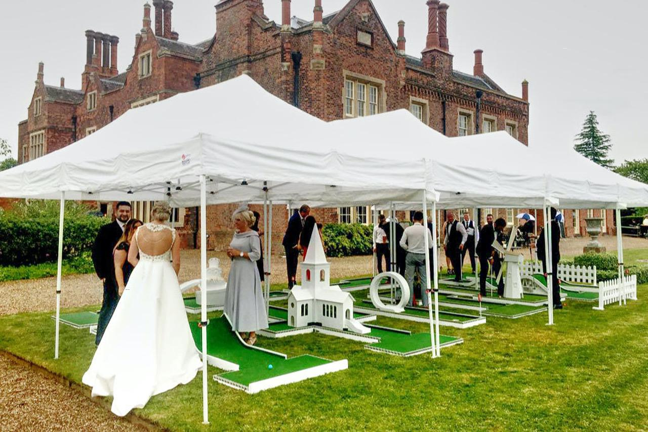 Mobile Mini golf wedding entertainment Hodsock Priory