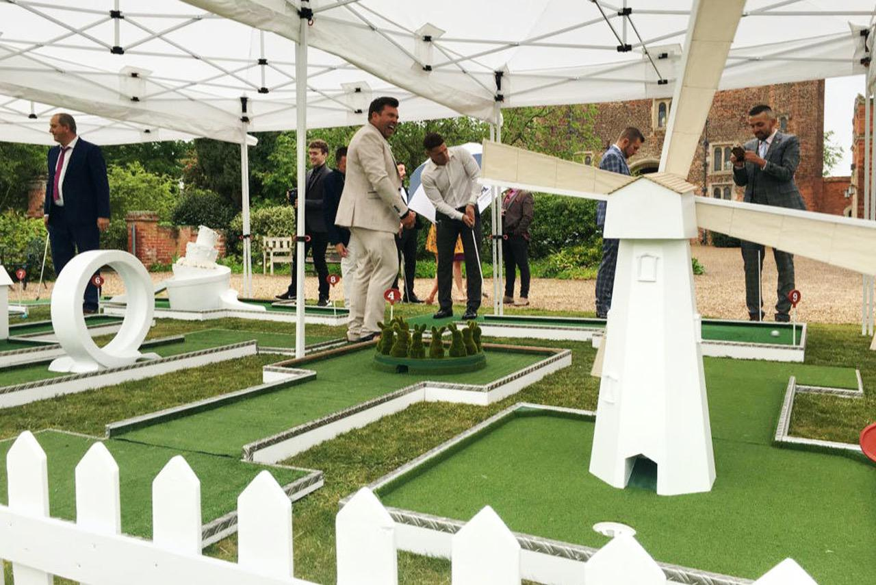 Hodsock Priory - mobile crazy golf wedding entertainment