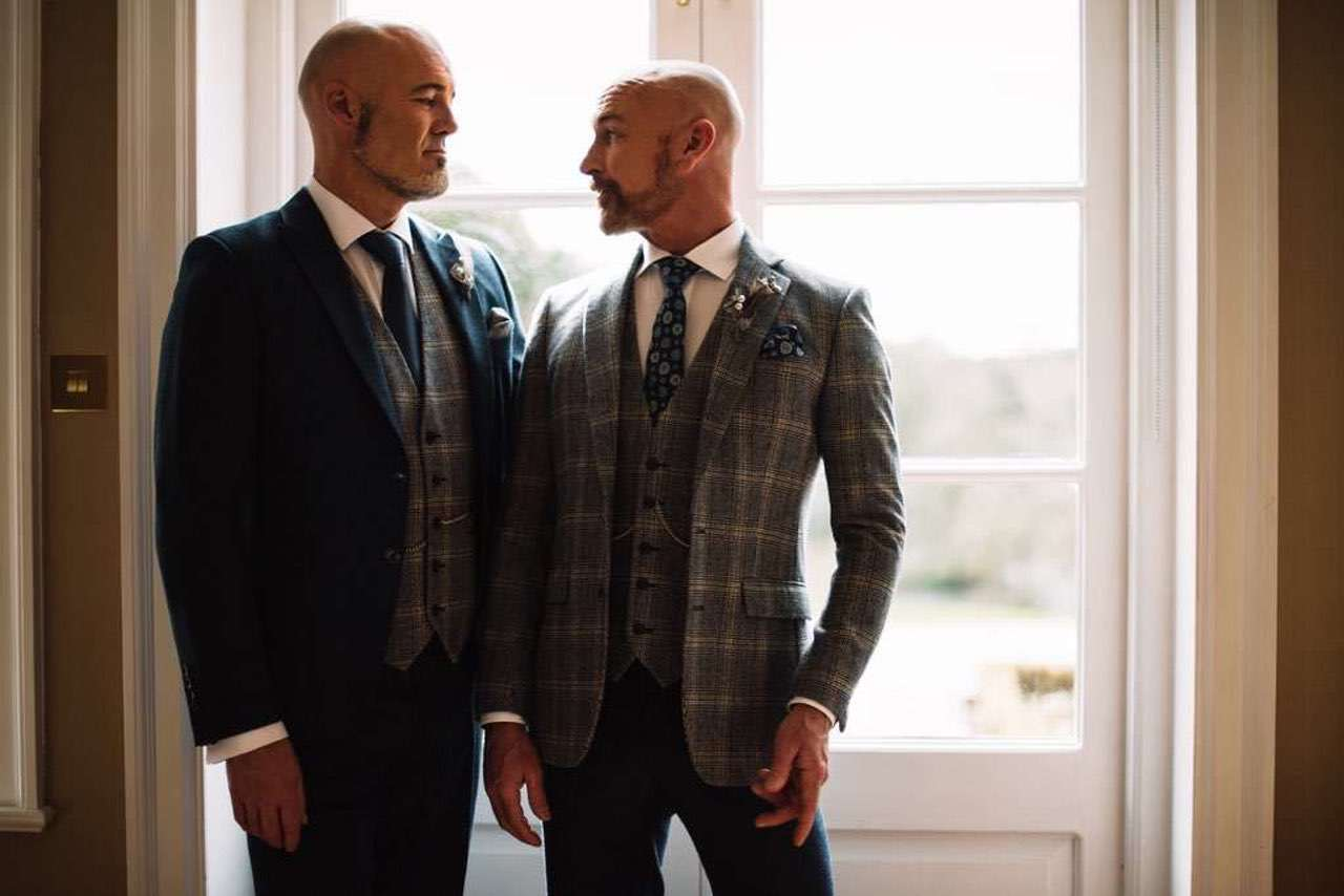 same-sex wedding ideas - lgbtq wedding suit hire whitfield ward
