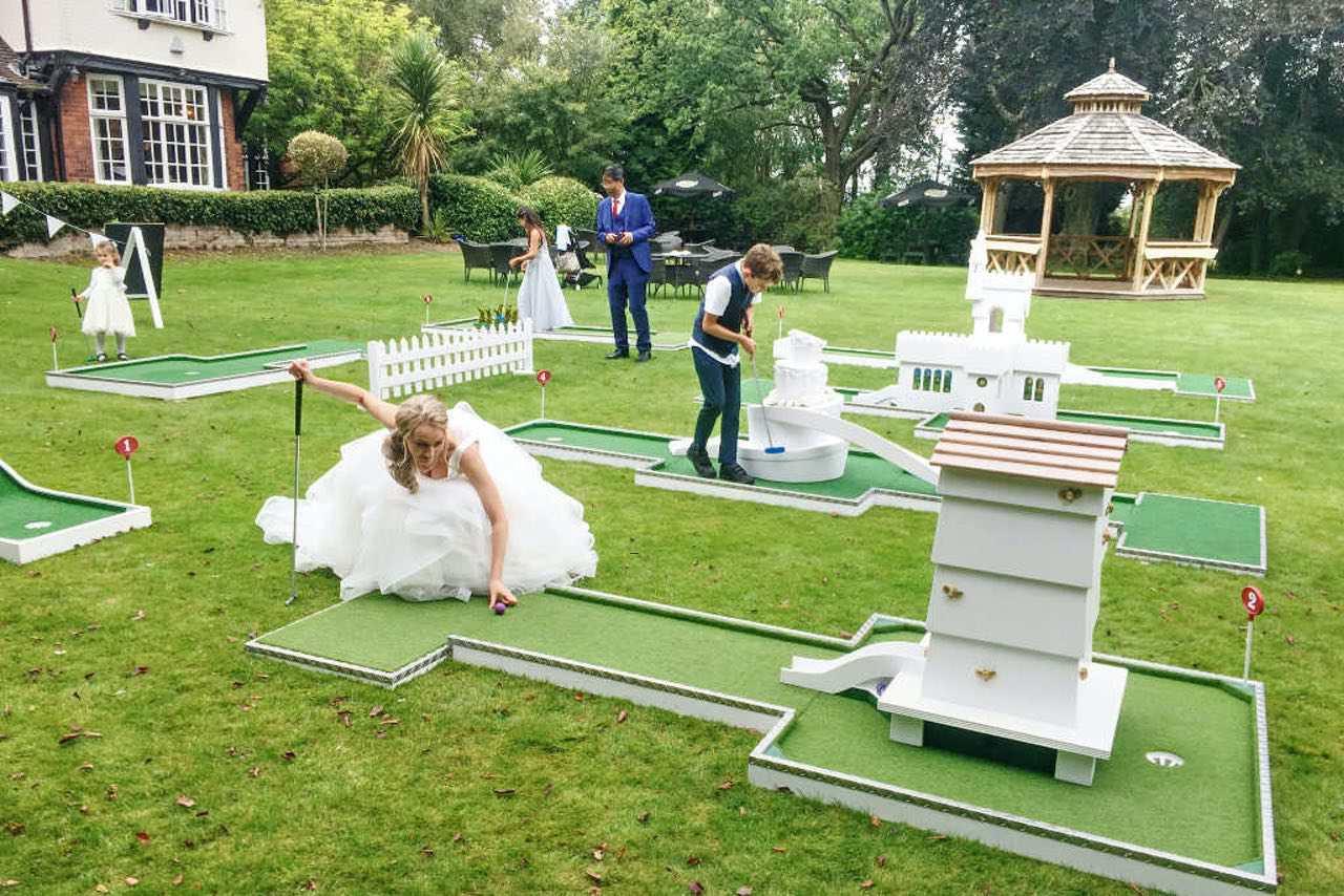 mere court hotel wedding entertainment mobile crazy golf