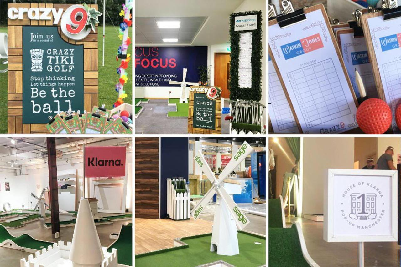 mobile crazy golf corporate entertainment branding package