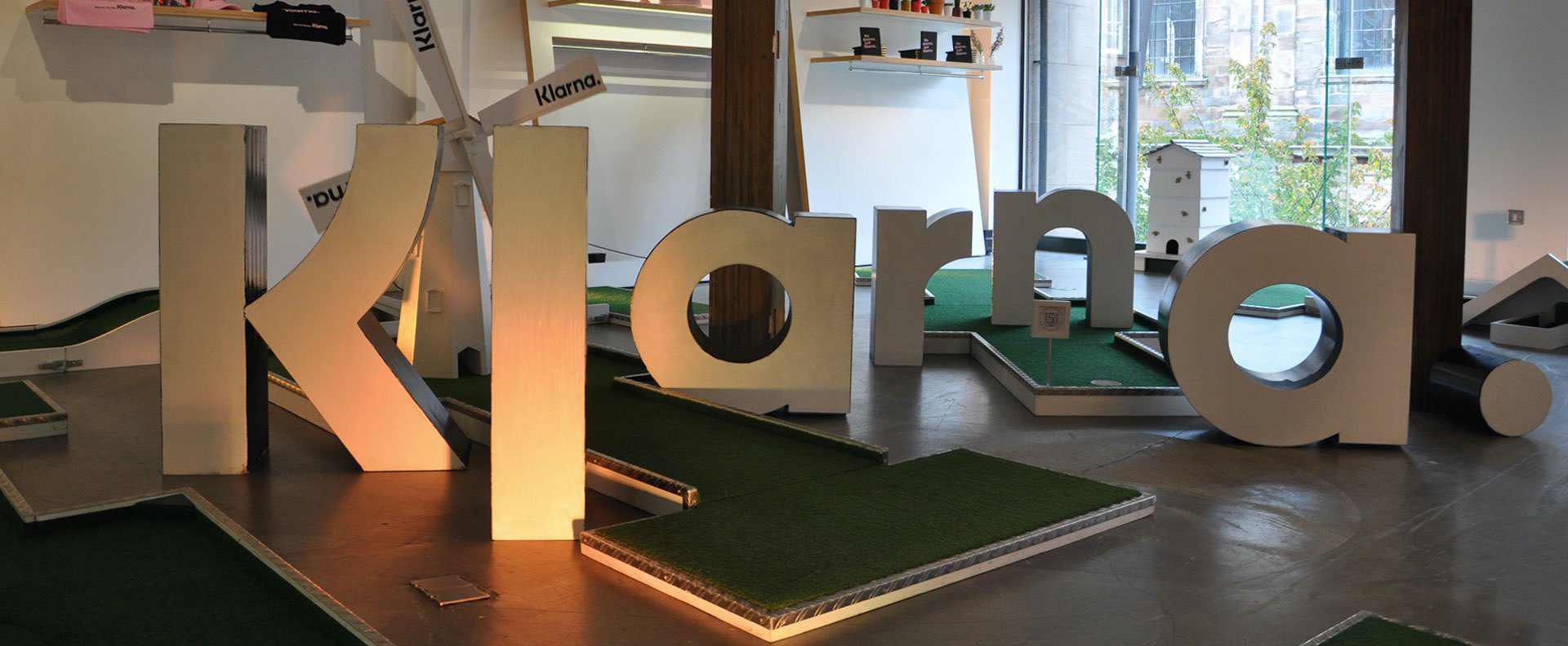 mobile crazy golf corporate events - Klarna