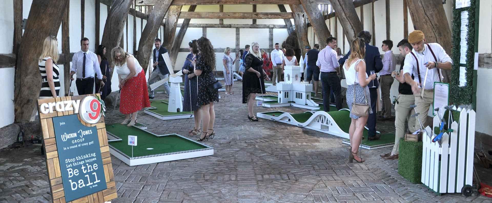 Mobile Crazy Golf Corporate Events - Watkin Jones