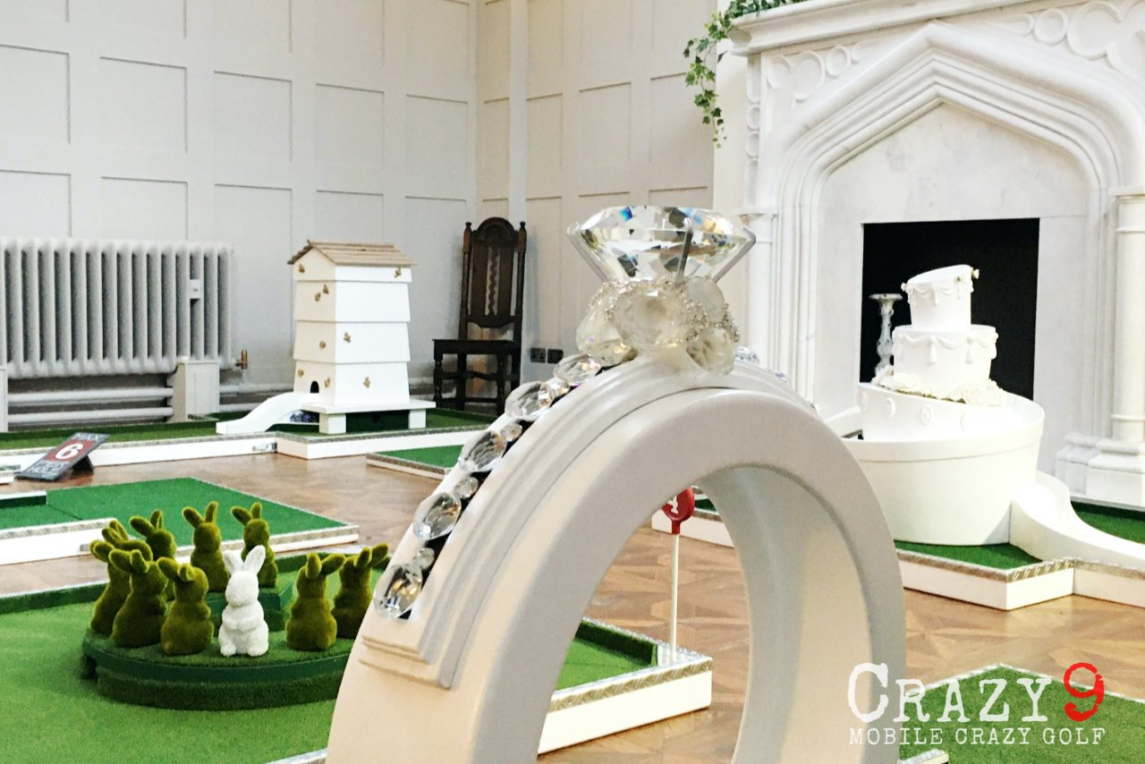 wedding crazy golf engagement ring