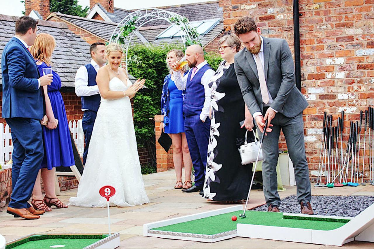 Mobile Crazy Golf Wedding Entertainment - Sarah & Josh - The Cock O'Barton