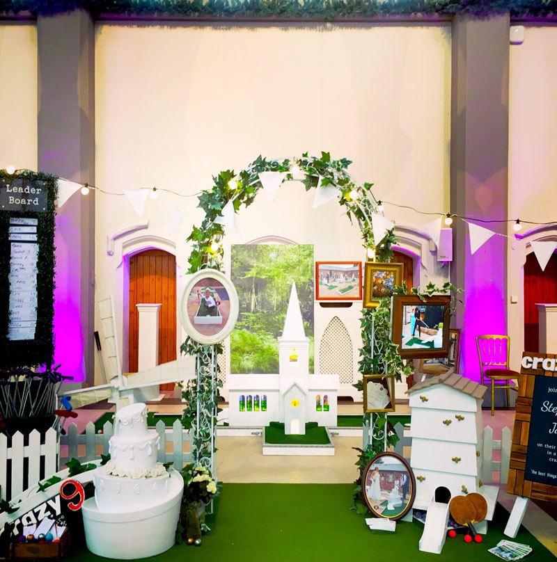 wedding fair at the monastery, gorton, manchester - mobile crazy golf wedding entertainment