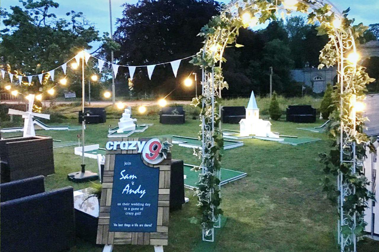 Mytton & Mermaid Hotel Wedding Crazy Golf