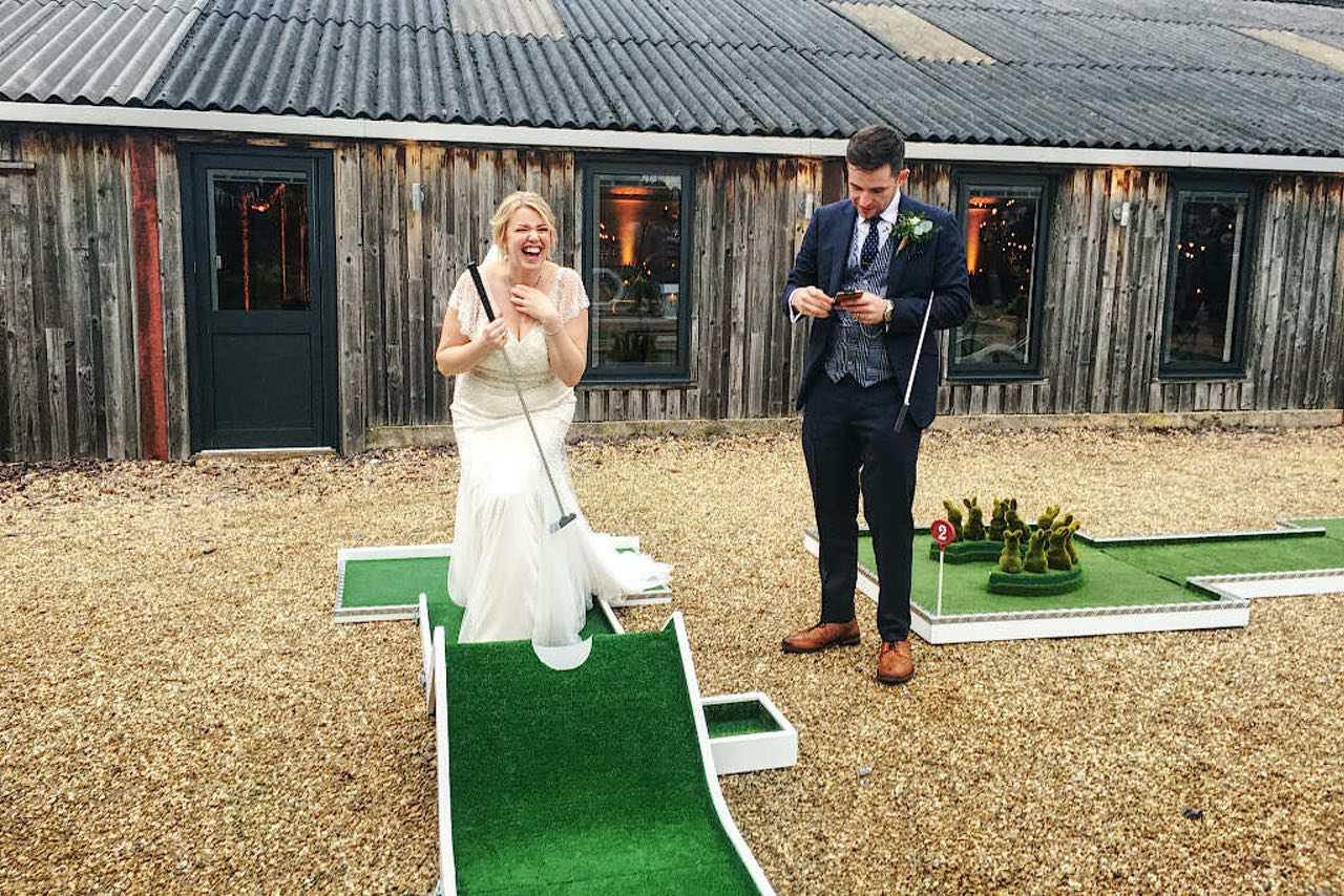 Owen House Wedding Mobile Crazy Golf Entertainment