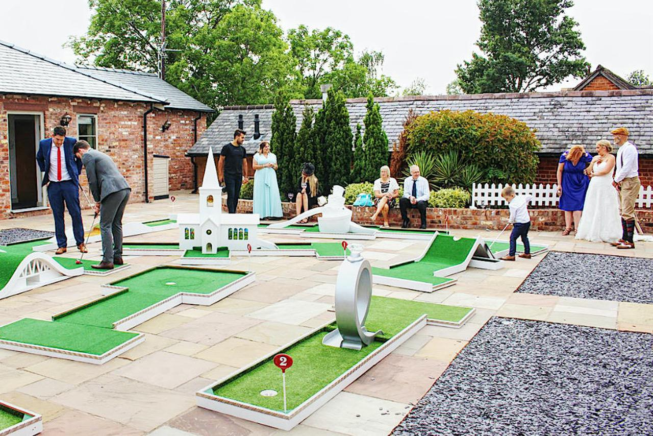 Portable Crazy Golf Wedding Entertainment - Sarah & Josh - The Cock O'Barton