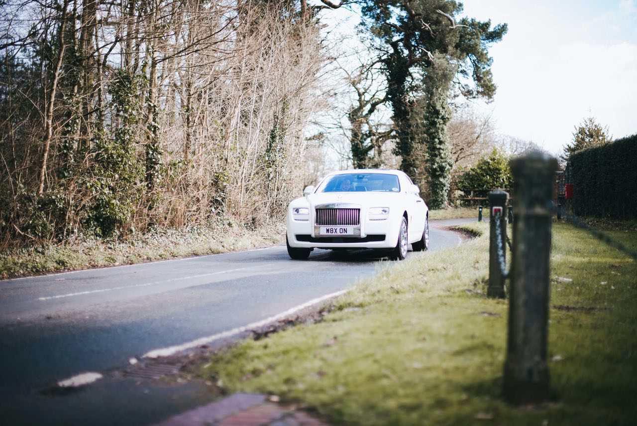 same-sex wedding ideas - red carpet cars rolls royce hire cheshire