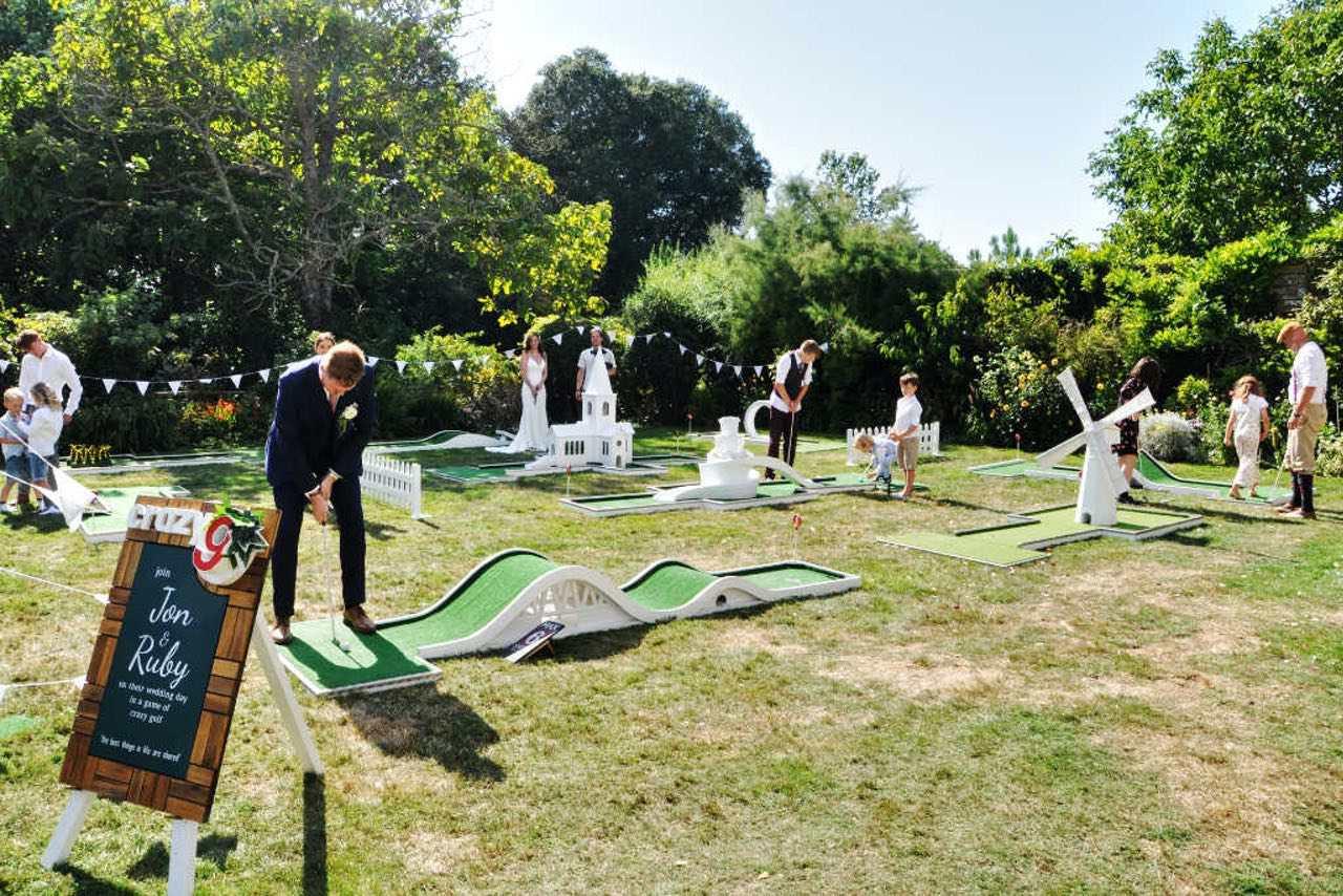 smedmore house wedding venue dorset mobile crazy golf