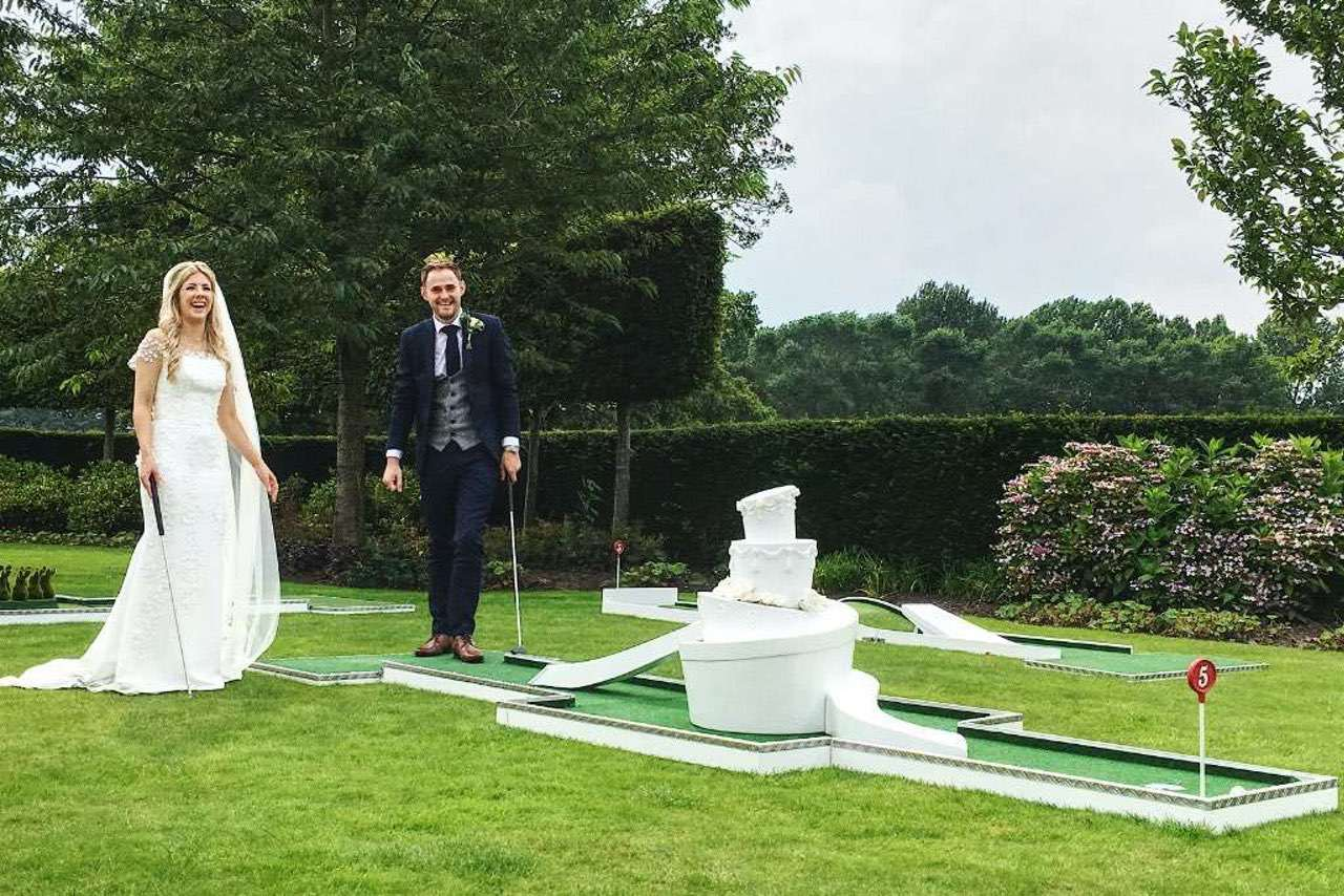 wedding crazy golf by crazy9 wedding cake