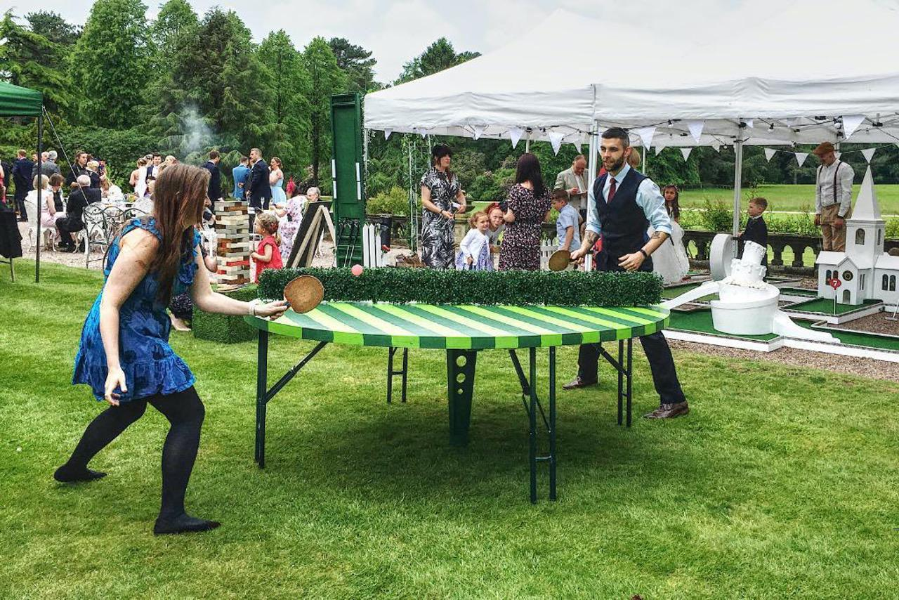 wedding crazy golf garden games crazy table tennis
