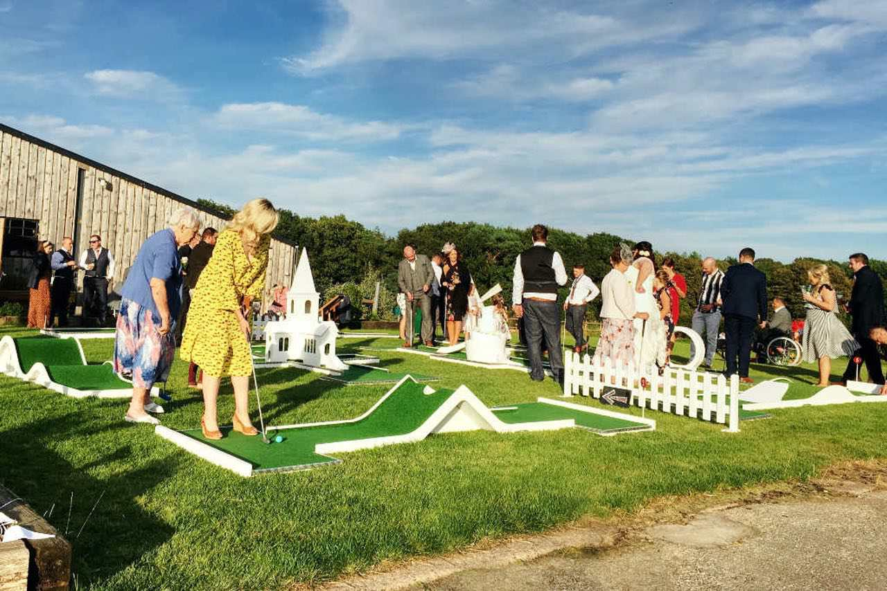 Cheshire Wedding Venue Dove Barn Wedding Crazy Golf Entertainment