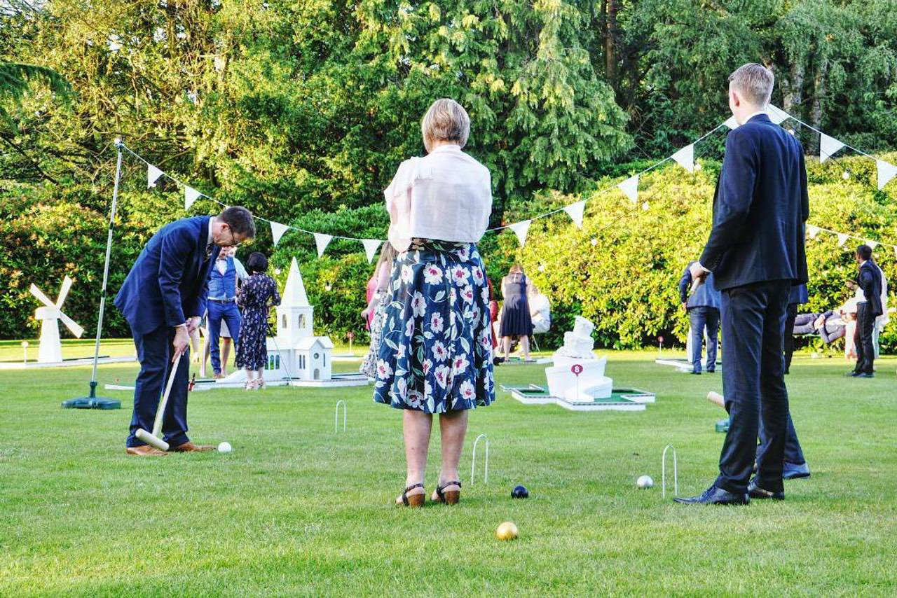 wedding garden games by crazy golf croquet