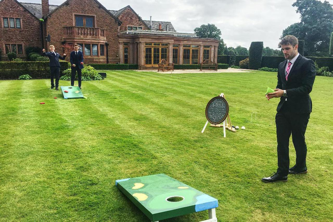wedding garden games cornhole by crazy9 mobile crazy golf