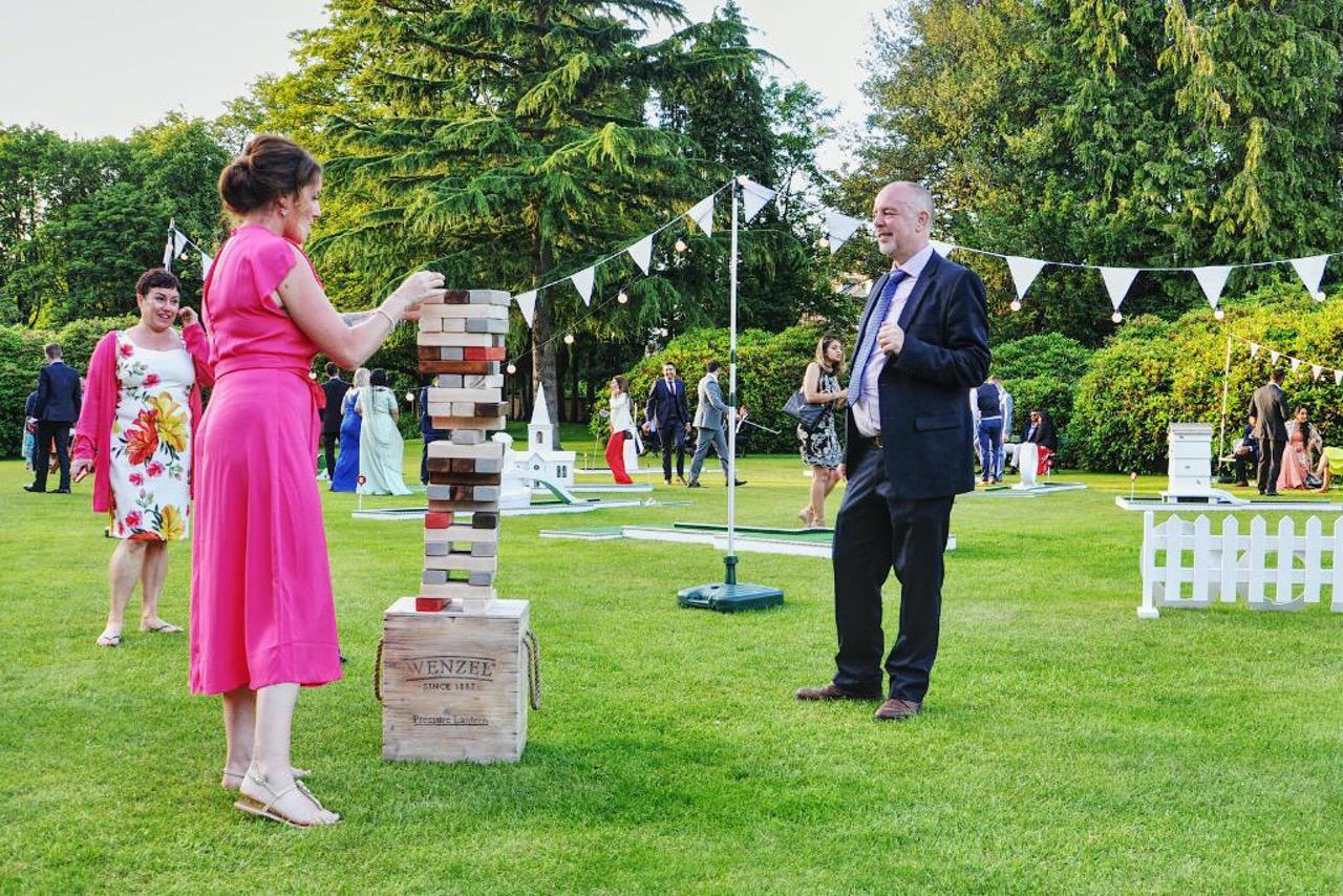 wedding garden games giant jenga style building blocks by crazy9 mobile crazy golf