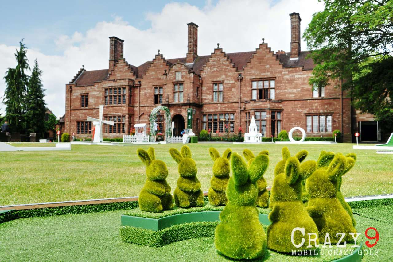 wedding mobile crazy golf wrenbury hall